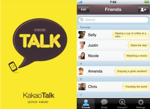 Kakaotalk Put one's finger on Friends By Phone Number